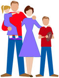 A Simple Family. A simple illustration of a family Royalty Free Stock Images