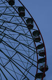Simple ferris wheel in black and blue Stock Image