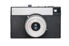 Simple film camera isolated on white Stock Image