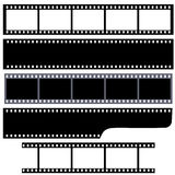 Simple film strips set. Set of blank simple film strips. Vector illustration Stock Photography
