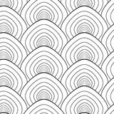 Simple fish scale ornament. Vector seamless pattern.  el. Ements, color it or Stock Photography