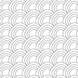 Simple fish scale ornament. Vector seamless pattern. isolated. Elements, color it or use your background Royalty Free Stock Image