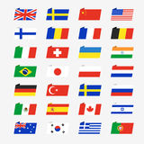 Simple flags of the countries Stock Photo