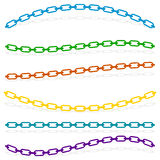 Simple flat chain link, chain illustration. Silhouette of a chai Stock Photo