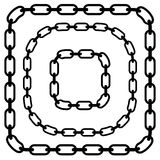 Simple flat chain link, chain illustration. Silhouette of a chain. royalty free illustration