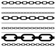 Simple flat chain link, chain illustration. Silhouette of a chain. vector illustration