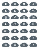 Simple Flat Clouds Icon Set. Stock Image