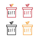 Simple flat design gift boxes vector. Set Stock Image