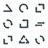 Simple, flat design recycle symbols. Stock Images