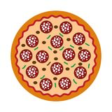 Simple pizza delicius icon royalty free stock photos