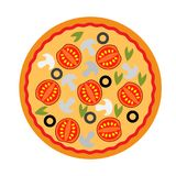 Simple pizza delicius icon royalty free stock images