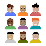 Simple flat faces Royalty Free Stock Photography
