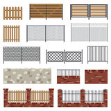 Simple flat fences. Royalty Free Stock Photography