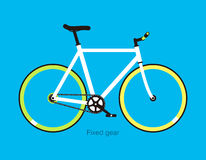 Simple flat fixed-gear bicycle, vector illustration Royalty Free Stock Photo