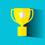 Simple flat icon, trophy. Vector Simple flat icon, trophy Royalty Free Stock Images