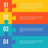 Simple flat infographic in form of jigsaw puzzle Stock Photography