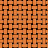 Simple, flat orange interlocking/overlapping lines seamless pattern. Flat repeat pattern design Royalty Free Stock Photography
