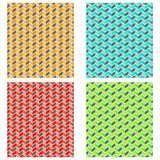 Simple, flat, seamless zigzag pattern. Four color variations royalty free illustration
