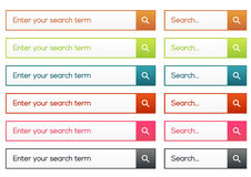 Simple flat search collection Royalty Free Stock Photo