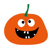 Simple flat style design Pumpkin  Halloween pumpkin icon Pumpkin icon vector Orange Pumpkin Smiling Pumpkin on a white bac Royalty Free Stock Image