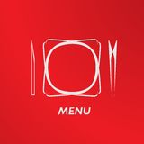 Simple flat vector cover cafe menu eps Stock Photography