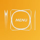 Simple flat vector cover cafe menu eps Royalty Free Stock Photo