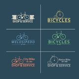 Simple flat vector images bike on the background Royalty Free Stock Photo