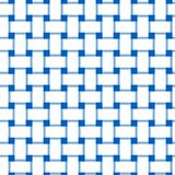 Simple, flat white and blue interlocking/overlapping lines seamless pattern. Simple, flat repeat pattern/texture design Royalty Free Stock Images