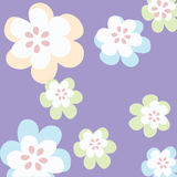 Simple floral background Stock Images