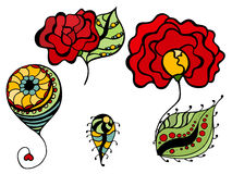 Simple floral drawings Royalty Free Stock Photo