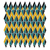 Simple floral geometric abstract pattern of triangles Royalty Free Stock Image