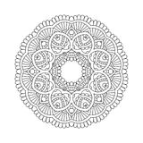 Simple floral mandala Stock Image