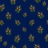 Simple floral pattern background. Royalty Free Stock Images