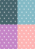 Simple floral pattern set Stock Photography