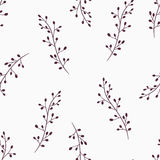 Simple floral seamless pattern background Stock Image
