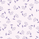 Simple floral seamless pattern, flower background, vector Stock Images