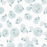 Simple floral seamless pattern with spots, flower background, vector Royalty Free Stock Images