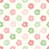 Simple floral shabby background Royalty Free Stock Images