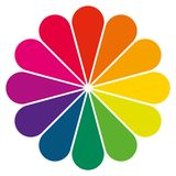 Simple color wheel as a flower Royalty Free Stock Photo