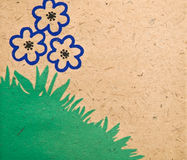 Simple Flower Background/Border stock images