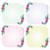 Simple Flower Frame. Simple frame with flower design Vector Illustration