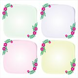 Simple Flower Frame. Simple frame with flower design Stock Photos