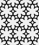 Simple flower pattern. Including seamless sample in swatch panel Stock Photography