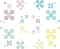 Simple flower pattern in pastels. Abstract flower pattern illustration in pastel colors Stock Photos