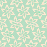 Simple flower seamless pattern Royalty Free Stock Photos