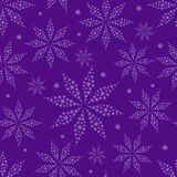 Simple Flower Silhouettes on Purple Seamless Background Royalty Free Stock Photo