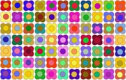 Simple flowers as wallpaper. Rainbow colors Stock Illustration