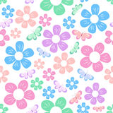 Simple flowers pattern Stock Photography