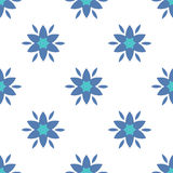 Simple flowers seamless pattern Royalty Free Stock Photos