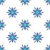 Simple flowers seamless pattern. Stock  illustration Royalty Free Stock Photos